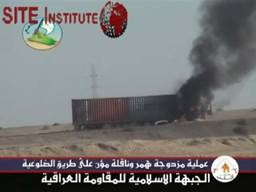 site-institute---1-23-06---the-salahaldin-al-ayoubi-brigades-of-jami-issues-a-video-depicting-the-bombing-of-a-humvee-and-supply-truck-in-al-doloeya