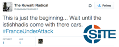Jihadists on Twitter Celebrate Attacks in Paris Speculate Who Planned them3