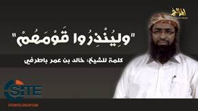 AQAP Official Batarfi Portrays Battles in Iraq Syria and Yemen as Crusader Safavid Plot Against Sunnis