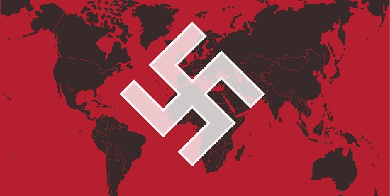 World Map Nazi