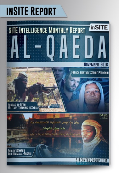 Monthly inSITE Report on Al-Qaeda for November 2018