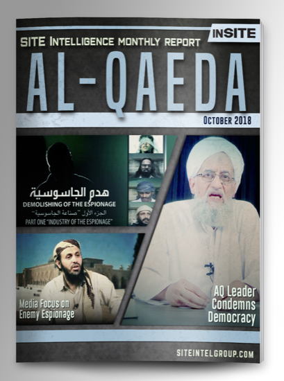 Monthly inSITE Report on Al-Qaeda for October 2018