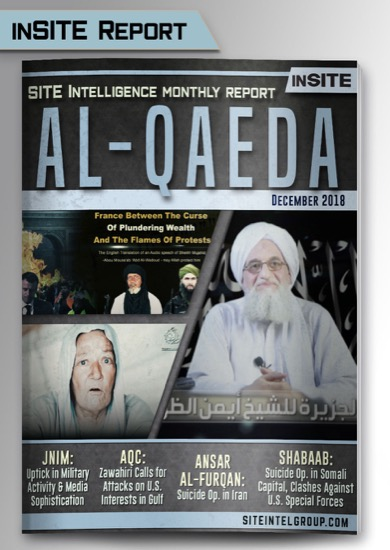Monthly inSITE Report on Al-Qaeda for December 2018