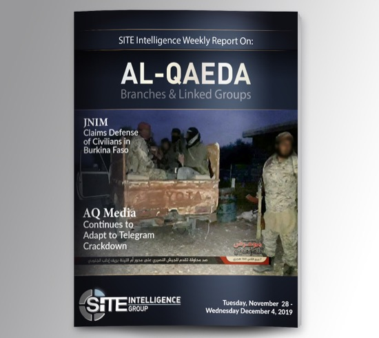 Weekly inSITE on al-Qaeda for November 28-December 4, 2019
