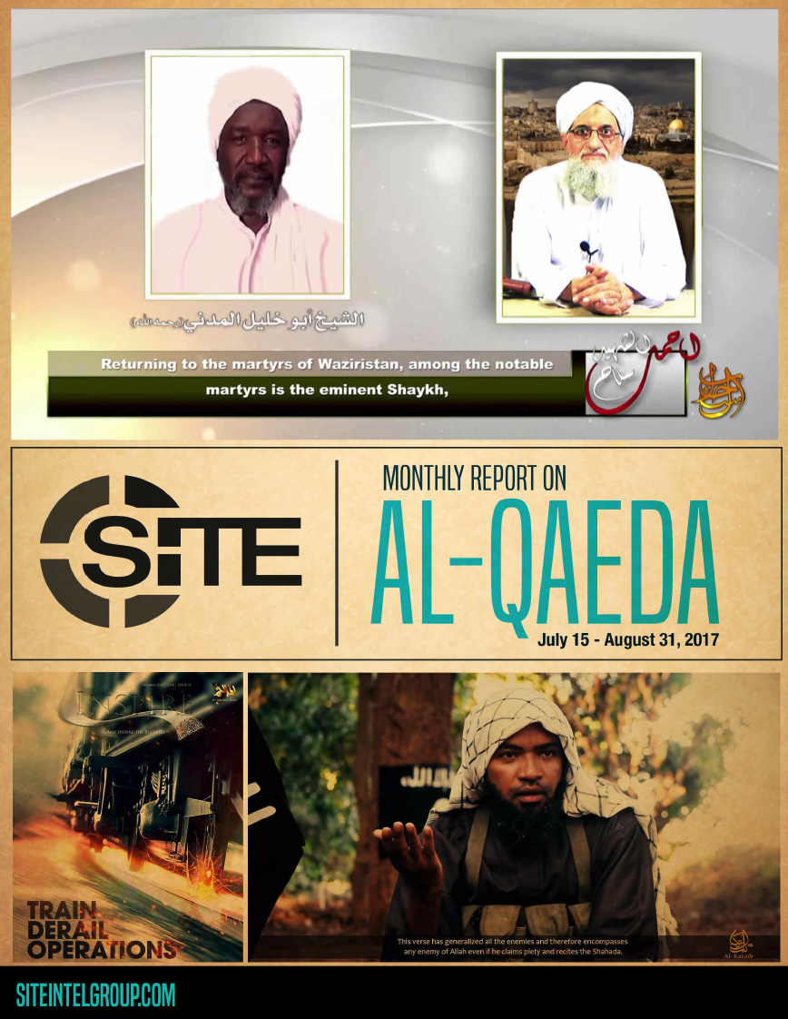 inSITE Report on Al-Qaeda, July 15 - August 31, 2017