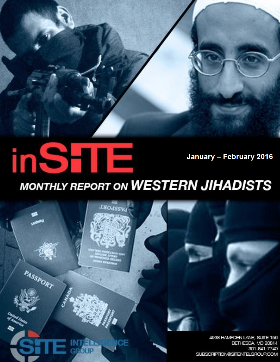 inSITE on Western Jihadists, Jan - Feb, 2016