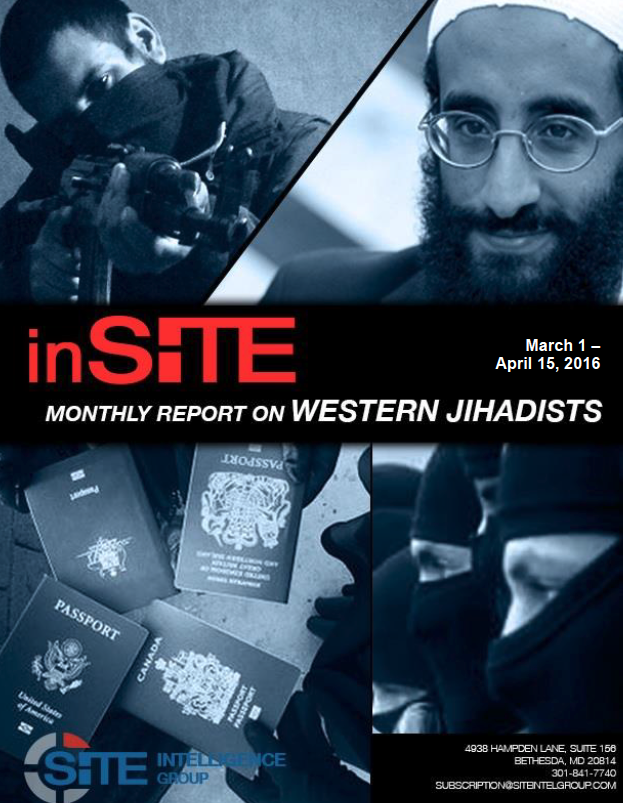 inSITE on Western Jihadists, March 1 - April 15