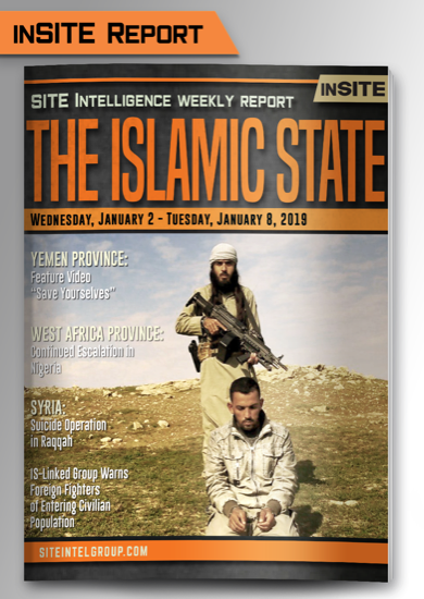 Weekly inSITE on the Islamic State for January 2-8, 2019