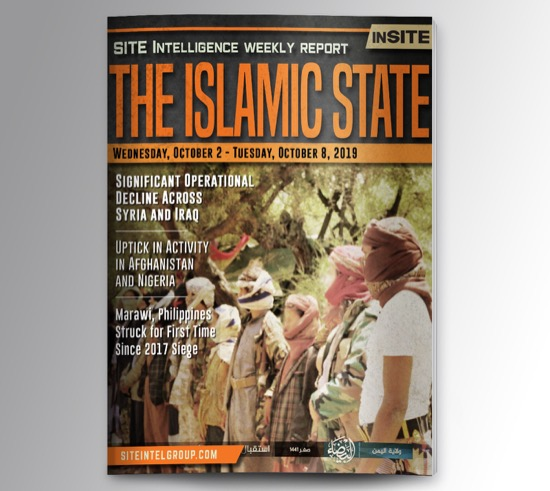 Weekly inSITE on the Islamic State for October 2-8, 2019