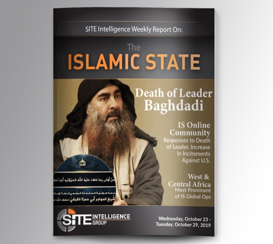 Weekly inSITE on the Islamic State for October 23-29, 2019