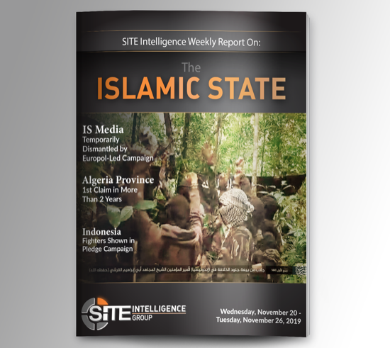 Weekly inSITE on the Islamic State for November 20-26, 2019