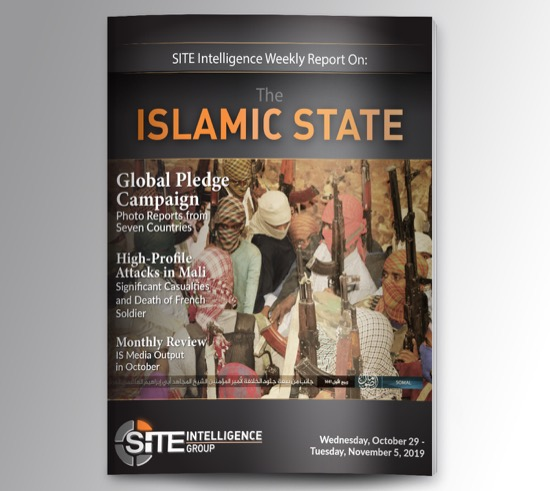 Weekly inSITE on the Islamic State for October 30-November 5, 2019