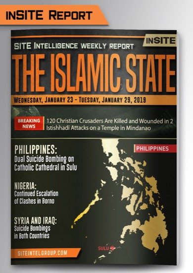 Weekly inSITE on the Islamic State for January 23-29, 2019