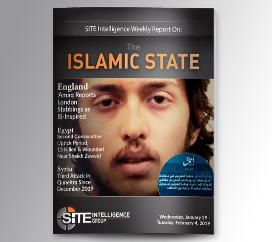 Weekly inSITE on the Islamic State for January 29-February 4, 2020