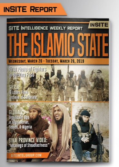 Weekly inSITE on the Islamic State for March 20-26, 2019