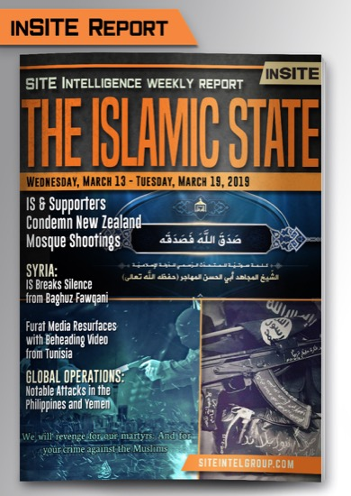 Weekly inSITE on the Islamic State for March 13-19, 2019