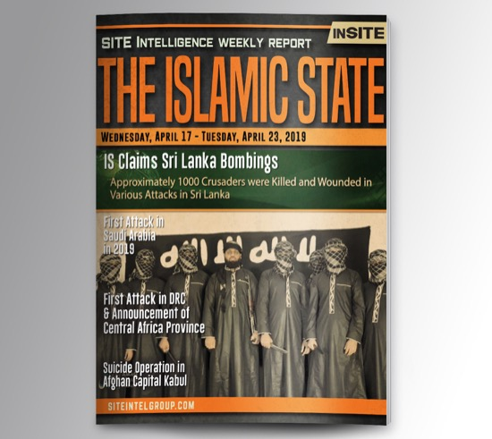 Weekly inSITE on the Islamic State for April 17-23, 2019
