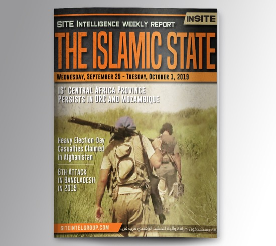Weekly inSITE on the Islamic State for September 25-October 1, 2019