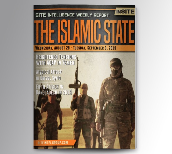 Weekly inSITE on the Islamic State for August 28-September 3, 2019