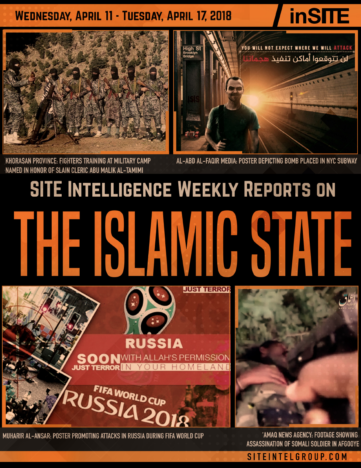 Weekly inSITE on the Islamic State for April 11-17, 2018