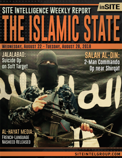 Weekly inSITE on the Islamic State for August 22-28, 2018
