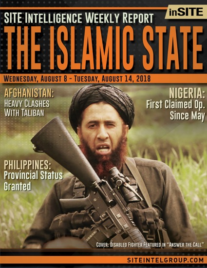 Weekly inSITE on the Islamic State for August 8-14, 2018