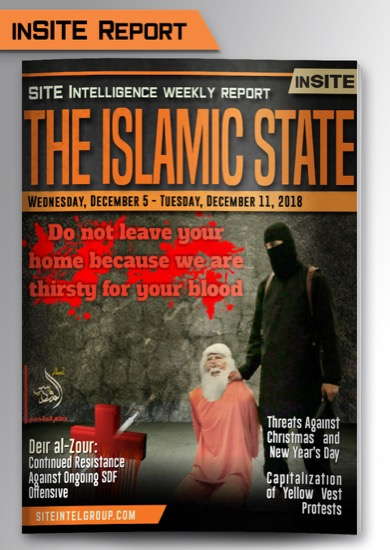Weekly inSITE on the Islamic State for December 5-11, 2018
