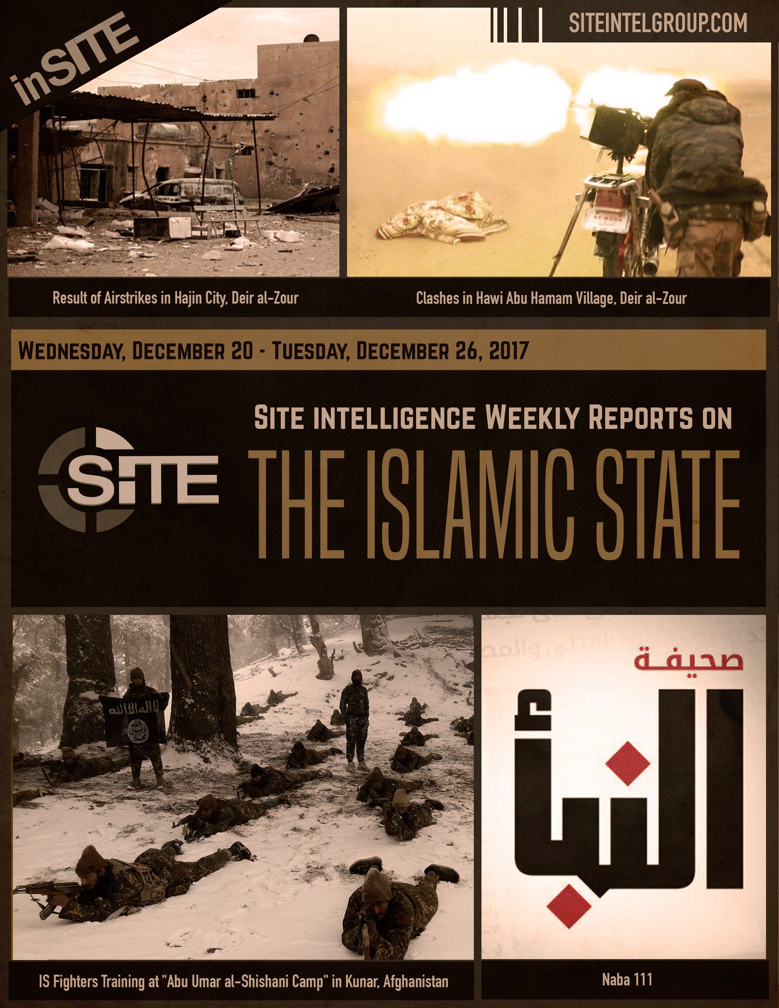Weekly inSITE on the Islamic State, December 20-26