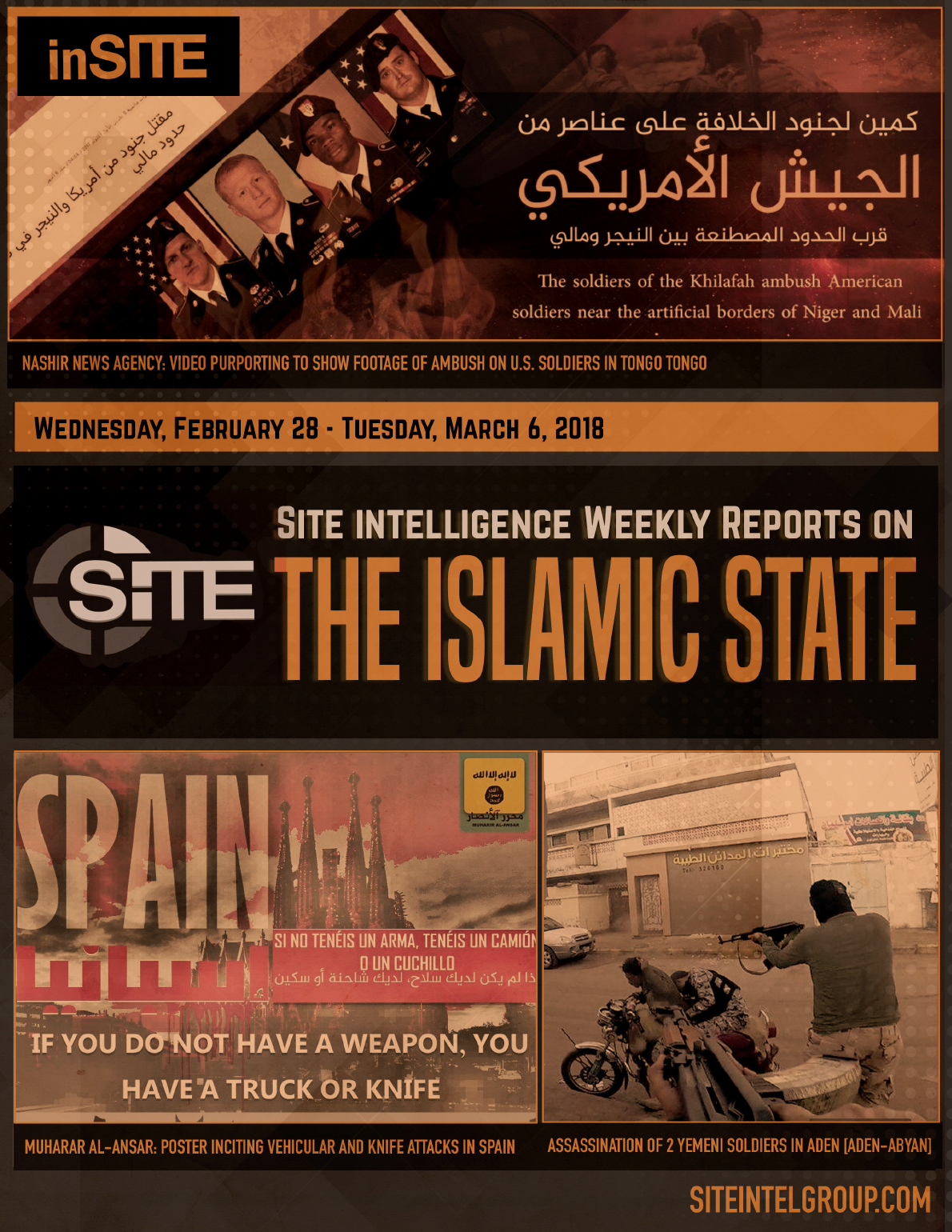 Weekly inSITE on the Islamic State for February 28-March 6, 2018