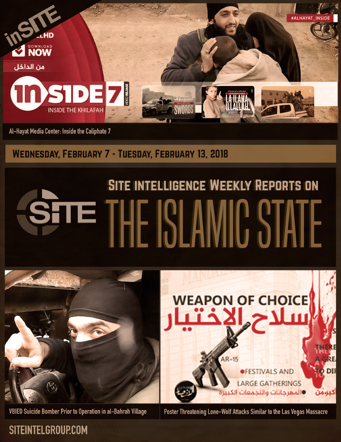 Weekly inSITE on the Islamic State, February 7-13, 2018