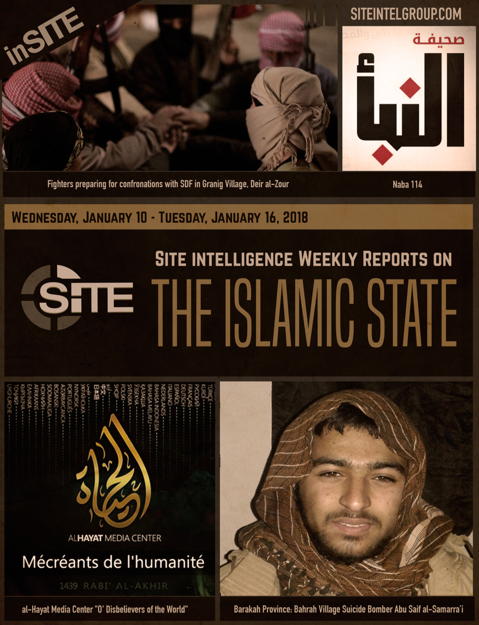 Weekly inSITE on the Islamic State, January 10-16, 2018