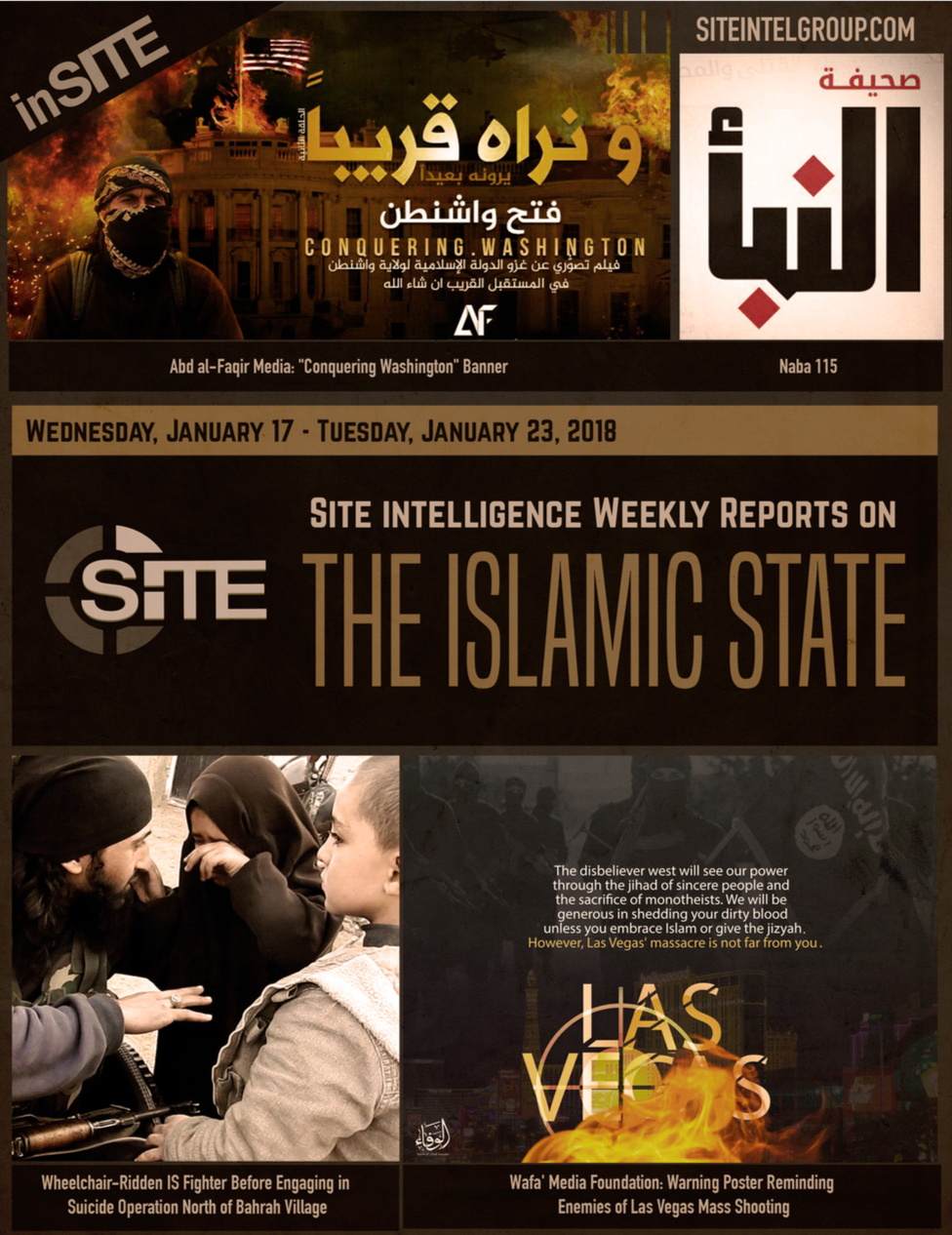 Weekly inSITE on the Islamic State, January 17-23, 2018
