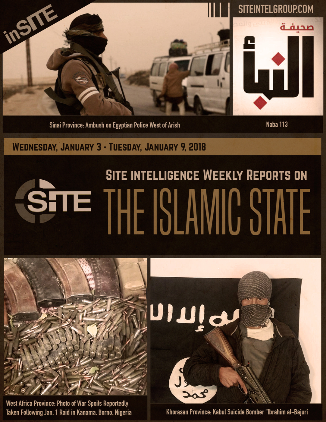 Weekly inSITE on the Islamic State, January 3-9, 2018