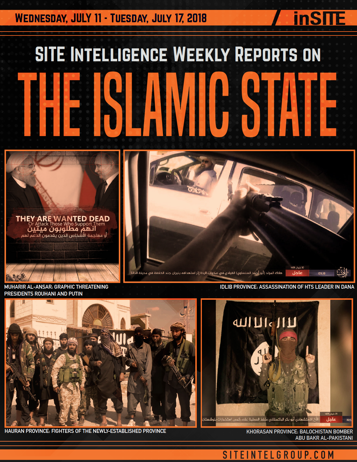 Weekly inSITE on the Islamic State for July 11-17, 2018