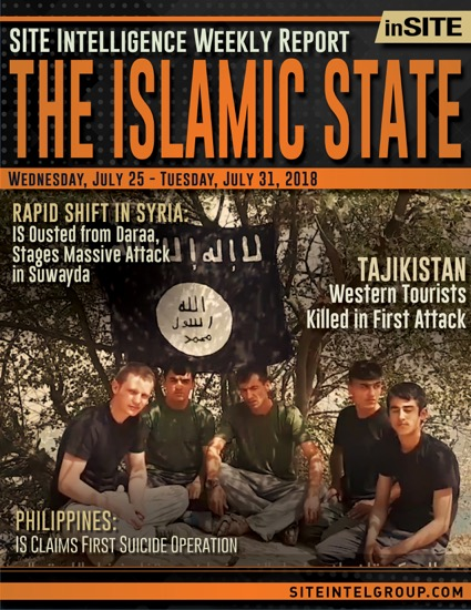 Weekly inSITE on the Islamic State for July 25-31, 2018