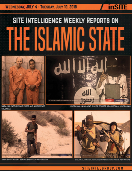 Weekly inSITE on the Islamic State for July 4-10, 2018