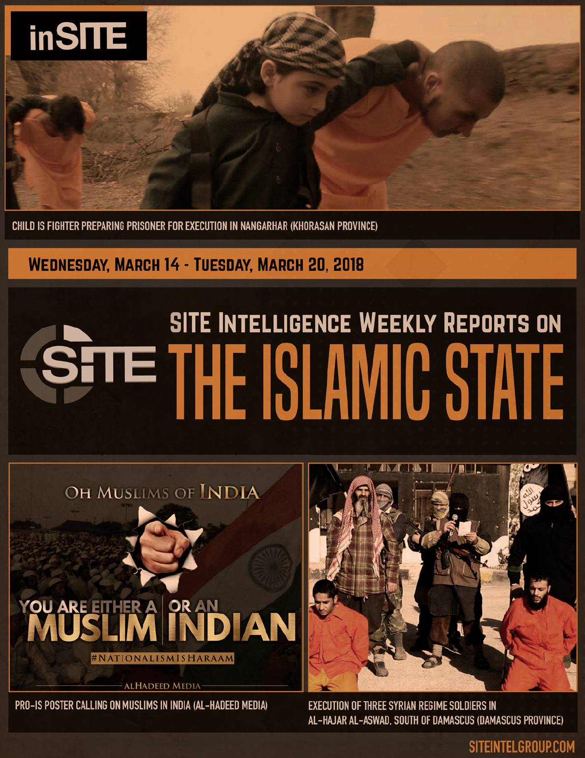 Weekly inSITE on the Islamic State for March 14-20, 2018