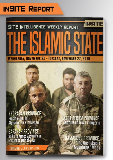 Weekly inSITE on the Islamic State for November 21-27, 2018