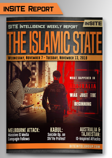 Weekly inSITE on the Islamic State for November 7-13, 2018