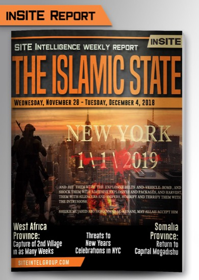 Weekly inSITE on the Islamic State for November 28-December 4, 2018