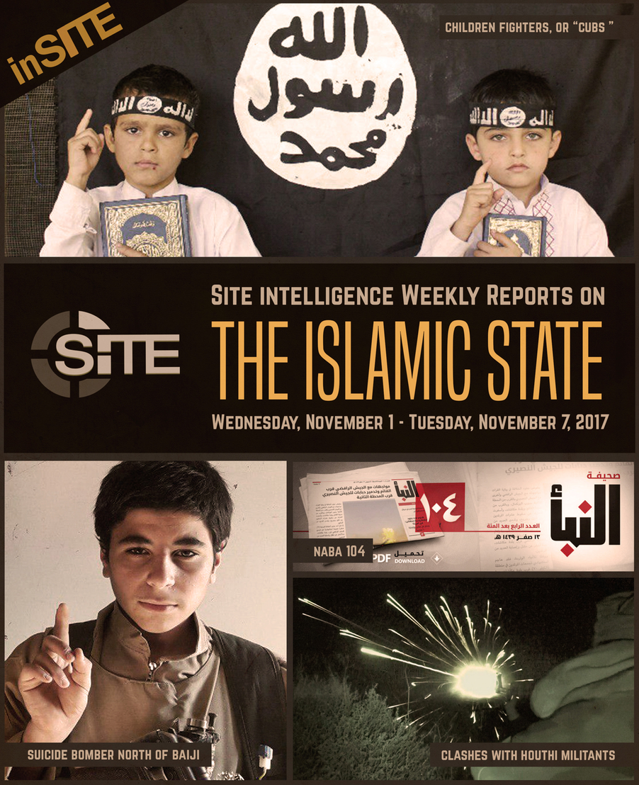 Weekly inSITE on the Islamic State, November 1-7