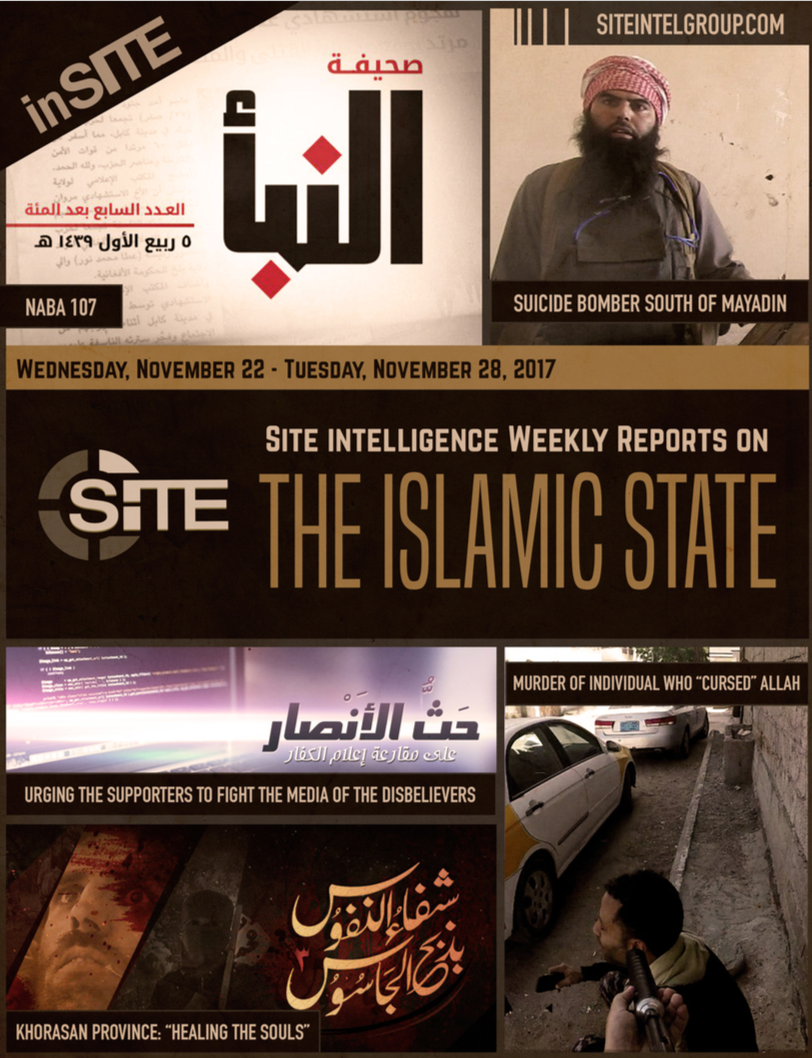 Weekly inSITE on the Islamic State, November 22-28