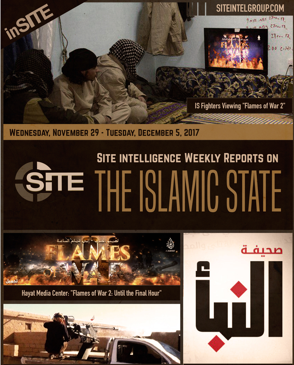Weekly inSITE on the Islamic State, November 29-December 5