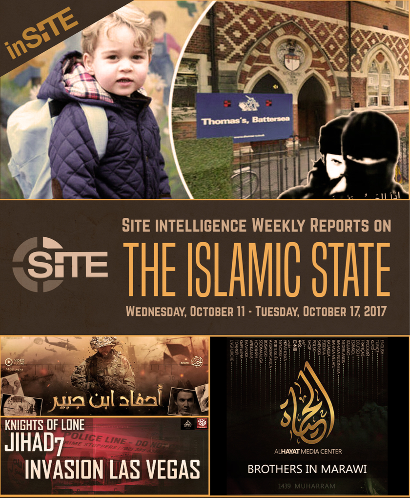 Weekly inSITE on the Islamic State, October 11-17