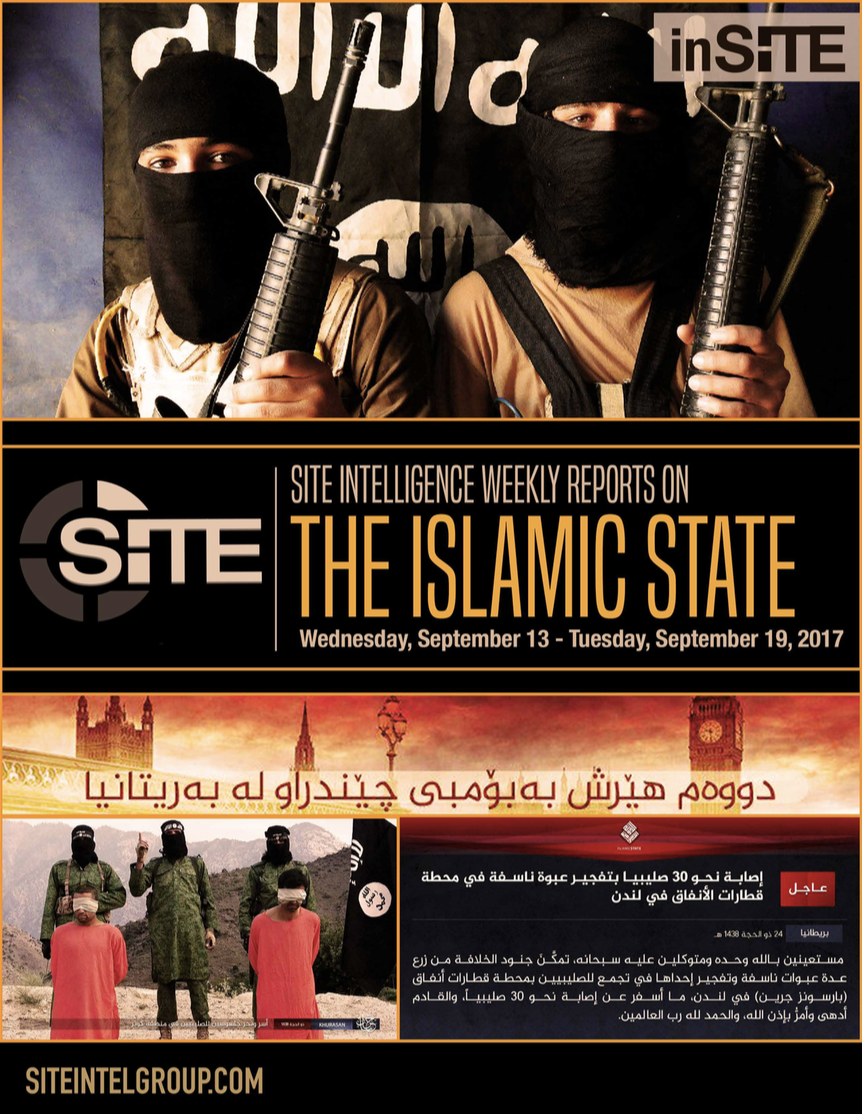 Weekly inSITE on the Islamic State, September 13-19