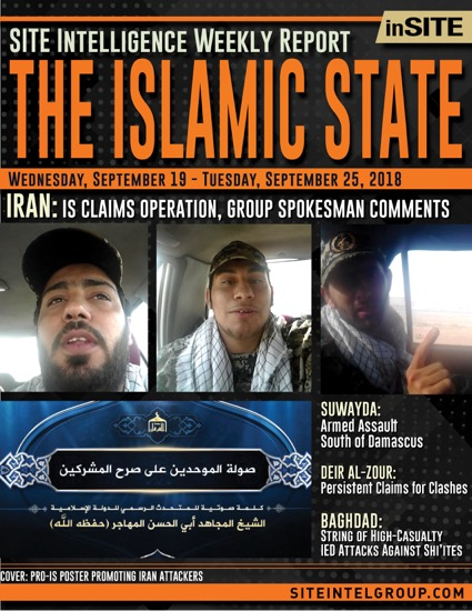 Weekly inSITE on the Islamic State for September 19-25, 2018