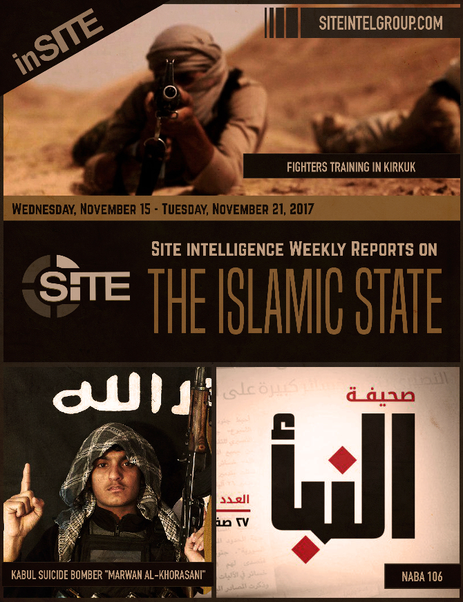 Weekly inSITE on the Islamic State, November 15 - 21, 2017