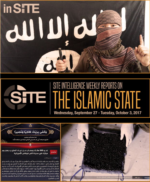 Weekly inSITE on the Islamic State, September 27 - October 3, 2017