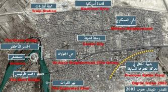 AERIAL MAP OF FALLUJAH POSTED ON JIHADIST MESSAGE BOARD