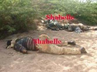 Photographs of Dead Ethiopian Soldiers, and Destroyed and Captured in the Somali City of Idale